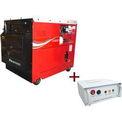 Comprar Gerador de Energia a Diesel Monof�sico Silenciado cabinado 6.0 kva partida el�trica com QTA 110/220v - ND7000ESQTA-Nagano