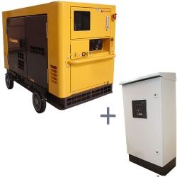 Comprar Gerador de Energia a Diesel Trifásico Silenciado 21 kva partida elétrica 220 / 380v com QTA - NDE19STA3D-Nagano