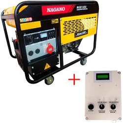 Comprar Gerador de Energia a Gasolina Trif�sico 11.5 kva refrigerado � ar 127/220v com QTA - NGE12EA3-Nagano