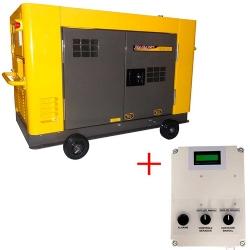 Comprar Gerador de Energia a Diesel 12.65 kva Trifásico refrigerado à àgua Silenciado 220/380v com QTA - NDE12STA3D-Nagano