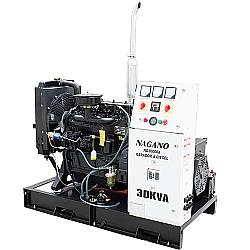 Comprar Gerador de Energia a Diesel 30 kVA de Potência, Trifásico, 4 Cilindros - Partida Elétrica Aberto - ND30000EA3-Nagano