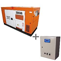Comprar Gerador de Energia a Diesel Trifásico 30 kVA partida elétrica Silenciado cabinado c/ QTA nacional - ND30000ES3QTA-Nagano