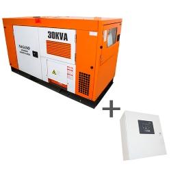 Comprar Gerador de Energia a Diesel Trifásico 30 kva com QTA Nagano incluso - ND30000ES3QTA-Nagano