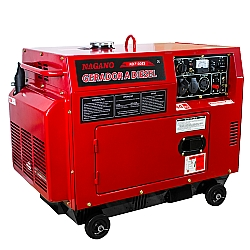 Comprar Gerador de Energia a Diesel Silenciado 6 KVA Monof�sico Partida El�trica - ND7100ES-Nagano