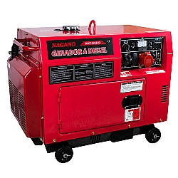 Comprar Gerador de Energia a Diesel Silenciado 6.8 KVA Trifásico Partida Elétrica - ND7100ES3D-Nagano