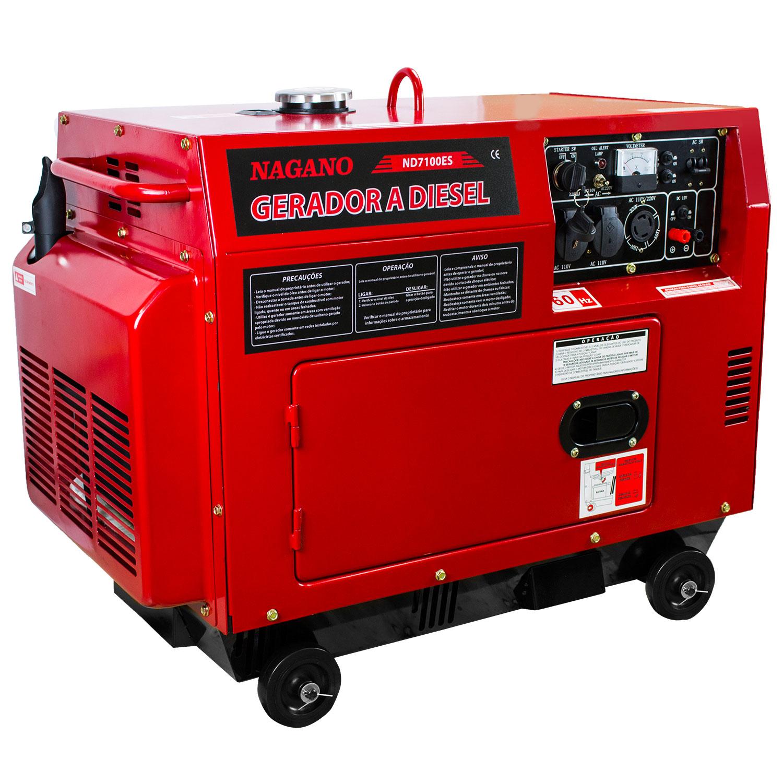 e0b817f166b AgrotamA -Gerador de Energia a Diesel Silenciado 6 KVA Monofásico Partida  Elétrica - ND7100ES