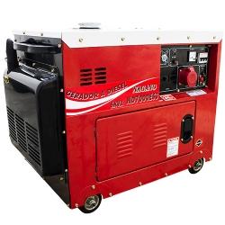 Comprar Gerador de Energia a Diesel, Trifásico 110v/220v, Silenciado, 6.0 kva, Partida elétrica - ND7000ES3-Nagano