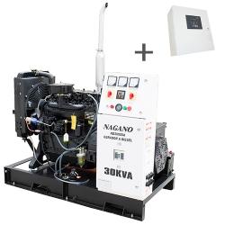 Comprar Gerador de Energia a Diesel Trifásico 30 kVA partida elétrica Aberto com QTA Nagano incluso - ND30000E3QTA-Nagano