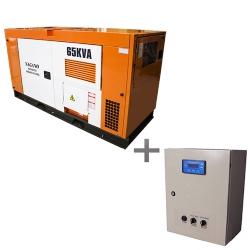Comprar Gerador de Energia a Diesel 65 kVA Trifásico - partida elétrica Silenciado cabinado c/ QTA Nacional - ND65000ES3QTA-Nagano
