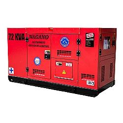 Comprar Gerador de Energia a diesel trifásico 72 KVA Partida Elétrica Silenciado Cabinado Motor Nagano - ND72000ES3-Nagano