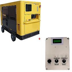 Comprar Gerador de Energia a Diesel Trifásico Silenciado 21 KVA 110/220v Partida Elétrica - ND19STA3 com QTA 21 KVA-Nagano