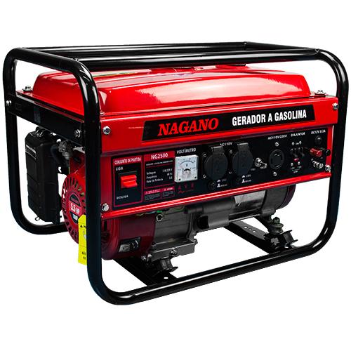 b42ba875b6c AgrotamA -Gerador de Energia a Gasolina 2.2 KVA Monofásico Partida Manual –  NG2500