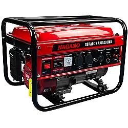 Comprar Gerador de Energia a Gasolina 2.2 KVA Monofásico Partida Manual – NG2500-Nagano