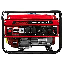 Comprar Gerador de Energia a Gasolina, 3 KVA, Monofásico Partida Manual - NG3100-Nagano