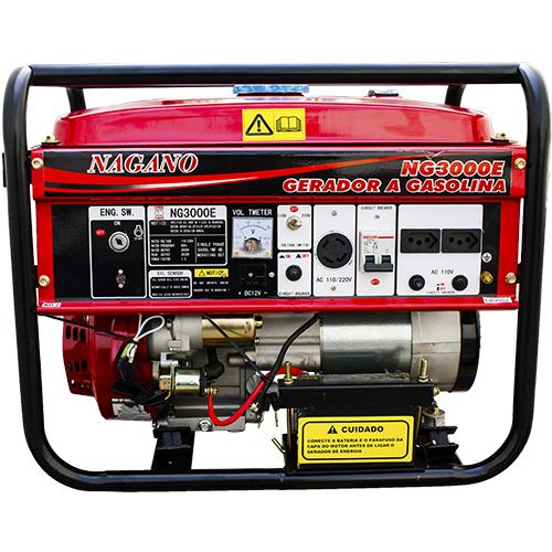 96a5515d5ae AgrotamA -Gerador de Energia a Gasolina 3 kva Monofásico partida elétrica  110 220v - NG3000E