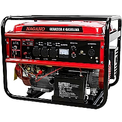 Comprar Gerador de Energia a Gasolina 6 KVA Monofásico Partida Elétrica – NG6100E-Nagano