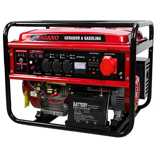 fb5a15c8259 AgrotamA -Gerador de Energia a Gasolina 6 KVA trifásico 110 220v Partida  Elétrica – NG6100E3
