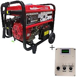 Comprar Gerador de Energia a Gasolina, Monofásico, 8 KVA, Partida Elétrica + QTA de até 12 KvA - NG8000EEQTA-Nagano