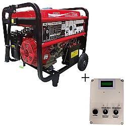 Comprar Gerador de Energia a Gasolina, Trifásico 220/380v , 8 KVA, Partida Elétrica + QTA de até 12 KvA - NG8000E3DEQTA-Nagano