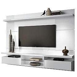 Comprar Painel Home Suspenso Livin 2.2 para TVs de at� 60 Pol, 2 Portas basculantes, Branco - 6252-HB M�veis