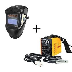 Comprar Inversor de Solda - MMA 145 Amp�res 60 HZ 220V - nis145 + M�scara de Solda com Escurecimento Autom�tico-Nagano