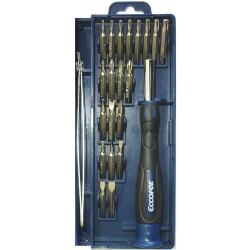 Comprar Jogo de bits/ponteiras de precisão encaixe 5/32 em aço cromo vanádio com 22 peças - EP382-Eccofer