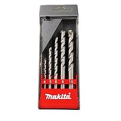 Comprar Jogo de broca de wídea 4 a 10 mm para concreto com 5 peças-Makita