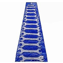 Comprar Jogo de chave combinada em aço carbono 12 peças 1/4 a 1-Eccofer