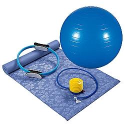 Comprar Kit Pilates 4 Pe�as - Bola de gin�stica - Anel de Resist�ncia - Colchonete e Inflador - 40100012-MOR