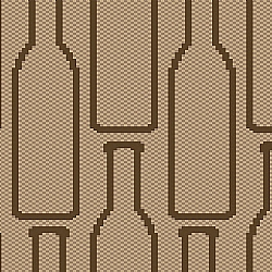 Comprar Kit Tapete de Cozinha 3 Pe�as - Sisal Viena Bottle Marrom-Oasis