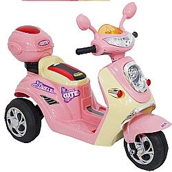 Comprar Mini Lambreta, Moto para crianças - Elétrica - 6v - Rosa-Bel Fix