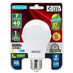 Comprar Lâmpada Led Bulbo A60 7W 100-240V (Autovolt) 6500 K-Nakaluz