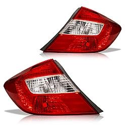 Comprar Lanterna Traseira Civic - 2012 à 2013 - Bicolor-Importado