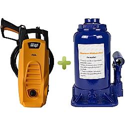Comprar Lavadora de Alta Pressão, 1500w, 1300 Libras - WAP + Macaco Hidráulico Tipo Garrafa Capacidade 4 Toneladas - TMG4T-WAP