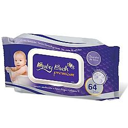 Comprar Lenços Umedecidos com 64 Baby Bath Premium-Baby Bath