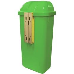Comprar Lixeira 50 Litros sem grava��o suporte em metal verde - LS5FVD-Bralimpia