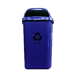 Comprar Lixeira Papeleira de 50 Litros com Suporte-Lar Plásticos