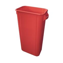 Comprar Lixeira reciclável de plástico 50 Litros vermelha-Bralimpia