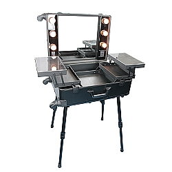 Comprar Maleta Camarim Para Maquiagem Com Espelho E Luzes Rodinhas Alça Retrátil Alumínio - THMC58-Tander Home