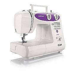 Comprar Máquina de Costura Confiance JX-6000 - Branca-Lilás-Elgin