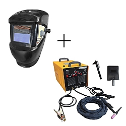Comprar M�quina de Solda Tig Inversora 250 Amp�res - Monof�sico + M�scara de Solda com Escurecimento Autom�tico-Nagano