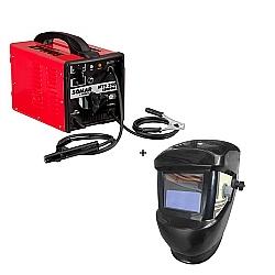 Comprar Máquina de Solda Transformador Bivolt 8 KvA 250 Ampères - MTS 250 Compact + Máscara de solda com escurecimento automático-Somar by Schulz