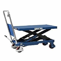 Comprar Mesa pantográfica manual hidráulica 500 kg com rodas de poliuretano - ME500-Bovenau