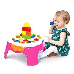 Comprar Mesa Educativa Atividades Rosa Play Time-Cotiplás