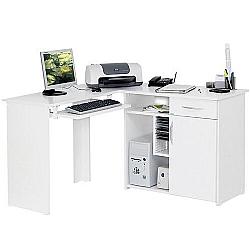 Comprar Escrivaninha Formato L para Micro Estação de Trabalho 1 Porta 1 Gaveta UV-Multivisão