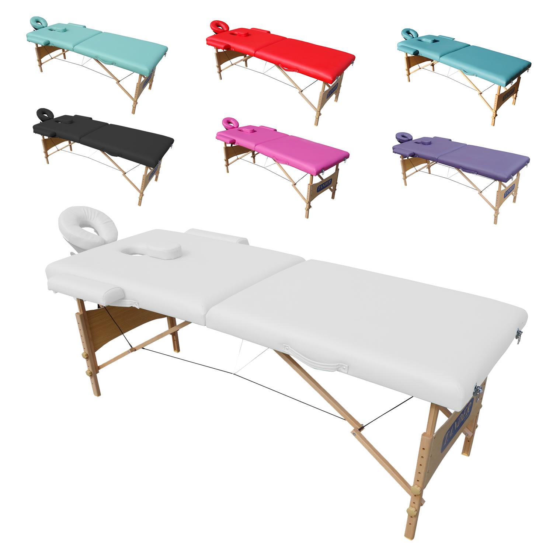 Mesa Maca de Massagem Estetica Dobravel Portatil com Orificio - Preto - Tander