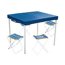 Comprar Mesa Prática com 4 Banquetas Azul - 3403-MOR