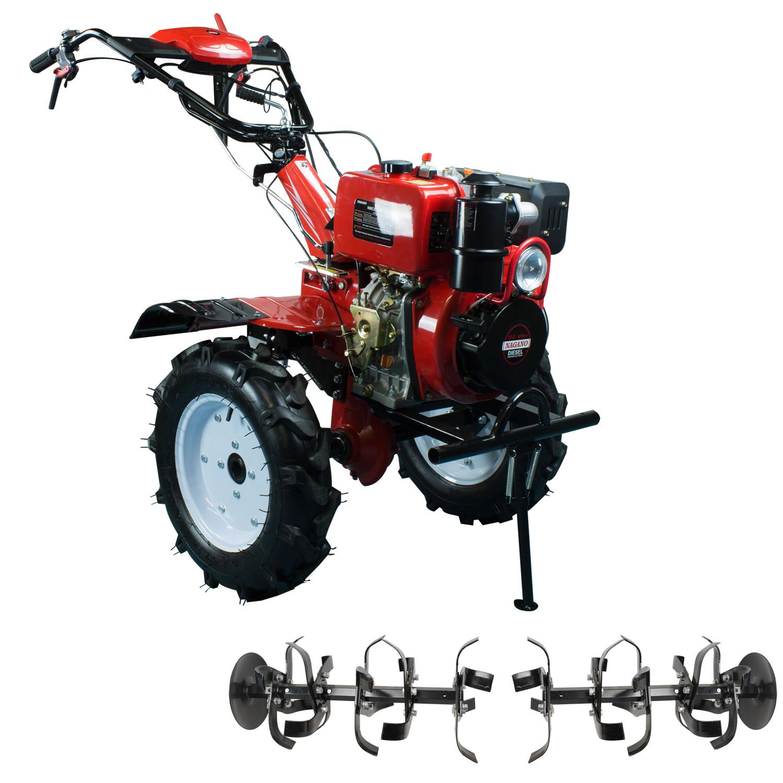 Microtrator Motocultivador Monocilindrico a Diesel Partida Eletrica 10HP 4 Tempos OHV Ar Refrigerado 418cc - NMCD135E - Nagano