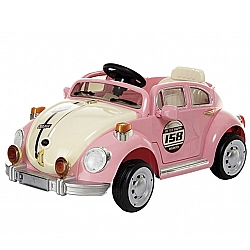 Comprar Mini Carro Elétrico para Crianças, Fusca Com Controle Remoto, 3 km/h, Bateria 6V 7 Ah-Bel Fix