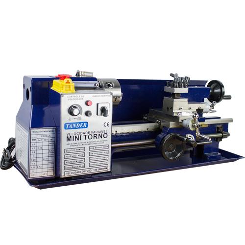 Mini Torno Mecanico de Bancada 300mm - 400w - 220v Monofasico - 60hz - TTM300 - Tander